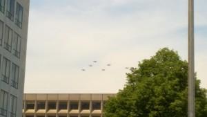 ww2flyover biplanes